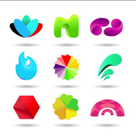 material design icon vector original design colored logos vector material 04 over