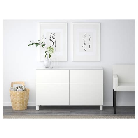 sideboard hoch best 197 storage combination with drawers lappviken white