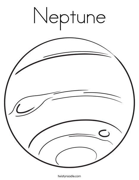 color of neptune neptune coloring page twistynoodle solar system