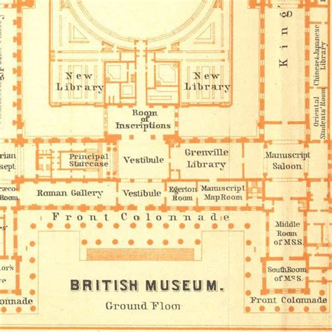 british museum floor plan 1907 british museum floor plan original antique drawing
