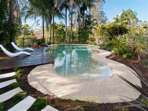 Pool Garden Design Australian Native Garden Design Using Grass With Pool