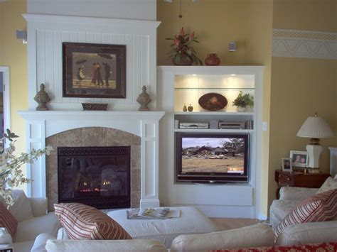 Fireplace And Tv In Living Room by Cottage Details Make The Difference Eclectic Living