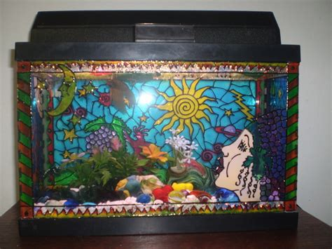 Diy Aquarium Decorations by Diy Painted Aquarium Decor Petdiys