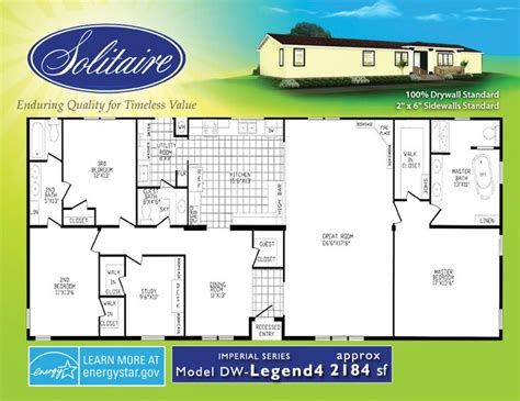 solitaire manufactured homes floor plans 107 best images about floor plans manufactured on