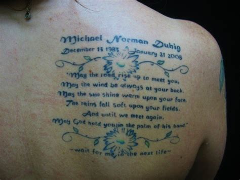 tattoo designs to remember a loved one memorial tattoos help the bereaved remember lost loved