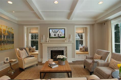 Living Room Window Wall Living Room Wall Living Room Contemporary With Brown Wall