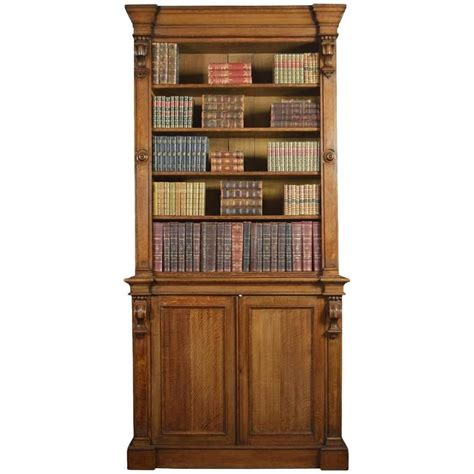 large 19th century light oak bookcase for sale at 1stdibs