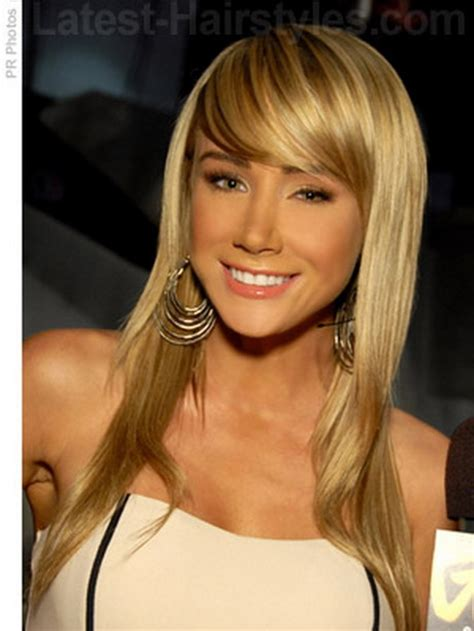 cute hairstyles for long straight hair with bangs cute haircuts for long hair with bangs