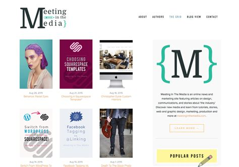 Choosing A Squarespace Template Meeting In The Media Om Squarespace Template
