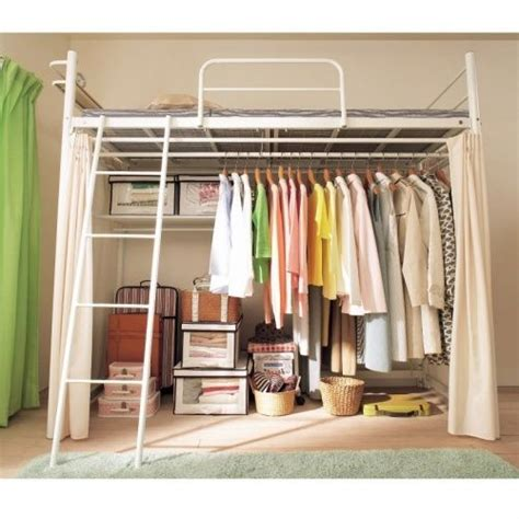 Loft Beds With Closet Underneath by Loft Bed With Closet Loft Bed Closet For The Home