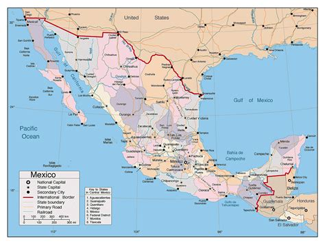 map of mexico and cities mexico map with major cities