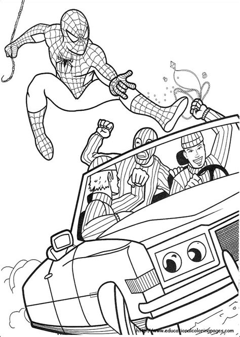 educational coloring pages spiderman kids spiderman coloring pages