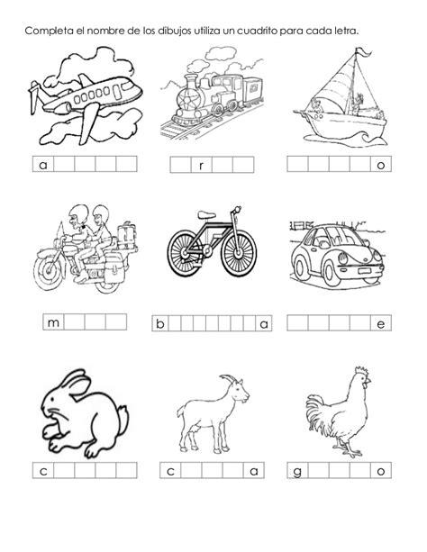 imagenes para colorear y escribir el nombre excelente cuadernillo de trabajo silabicos alfabeticos