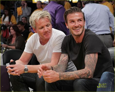 full sized photo of david beckham gordon ramsay watch the