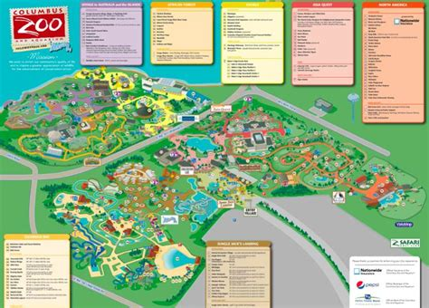 columbus zoo map columbus zoo and aquarium the mcvey team ohio opportunities for the o