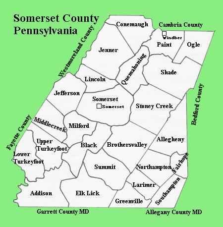 somerset county pennsylvania map