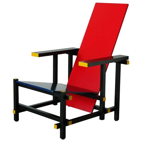 And Blue Chair And Blue Chair By Gerrit Rietveld For Sale At