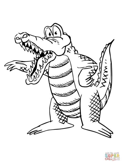 cartoon alligator coloring page cartoon alligator coloring page free printable coloring