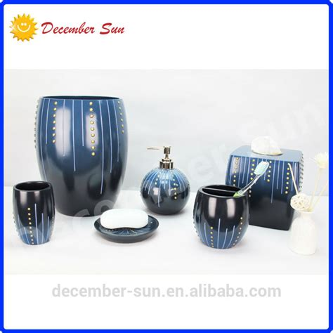 blue bathroom accessories sets blue bathroom accessories set resin bathroom