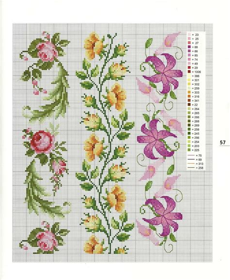 flower border pattern 223 best images about sewing crossstitch borders on