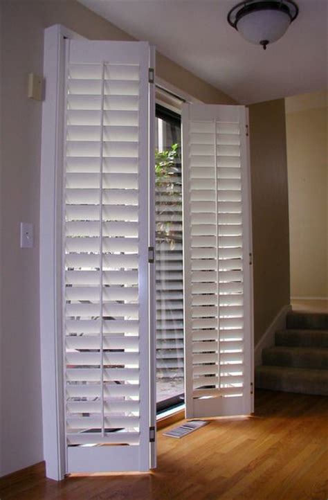 Patio Door Shutters Plantation Shutters Patio Doors Around The House