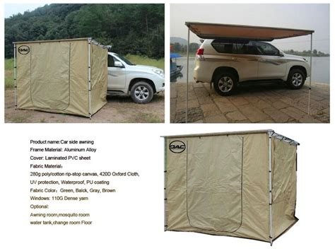 retractable vehicle awning retractable car awnings sunshade caravan side awning for