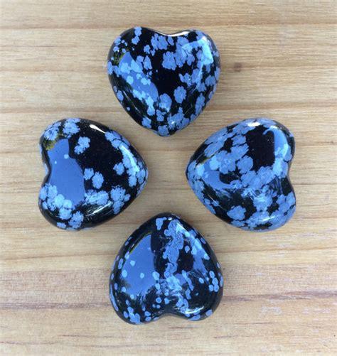 snowflake obsidian gemstone by whitemagickalchemy on
