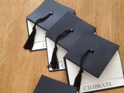 Handmade Graduation Invitations - graduation cap invitation large