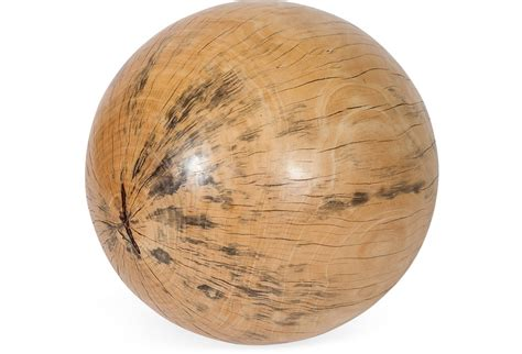 indonesian wood sphere extra large