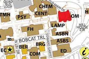 Texas State University Map by Old Main Campus Maps Texas State University