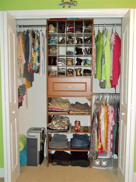 coat storage ideas small spaces white wooden closet with space for hanging clothes and