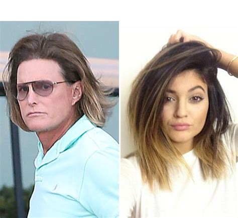 bruce jenners new hair style bruce jenner s hair competing with kylie jenner s ombre