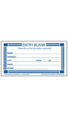 Wholesale Contest Entry Form Cards For Retail Store Supply Warehouse Entry Ballot Template