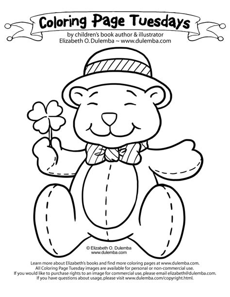 Dulemba Coloring Page Tuesday St Patty S Day 2012 St Patricks Coloring Pages