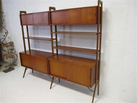 Teak Room Divider Modern Two Section Teak Room Divider Wall System By Kurt Ostervig For Sale At 1stdibs