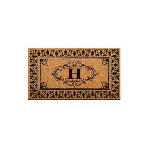 Monogrammed Outdoor Mat by Nuloom Welcome 30 In X 48 In Indoor Outdoor Monogrammed