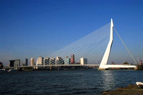 Rug by Architectuurfotografie Gemmulus Erasmusbrug Rotterdam