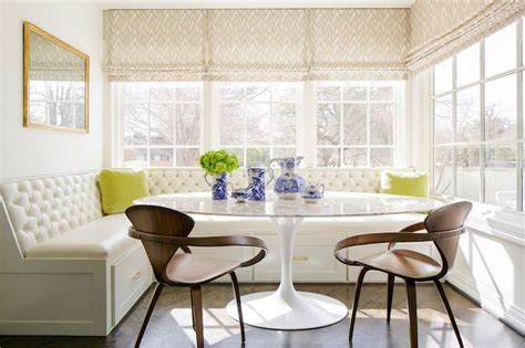 breakfast banquette sun filled breakfast nook is filled with an l shaped