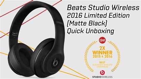 Limited Beats Studio Black new beats studio wireless headphones 2016 unboxing