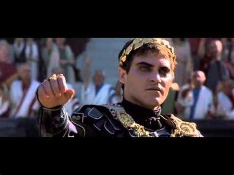 gladiator film emperor gladiator commodus and maximus s meeting youtube