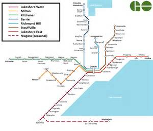 Via Bus Route Map by Toronto Go Train And Go Bus Visitor S Guide