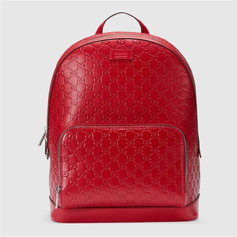 Guci Leather gucci signature leather backpack gucci s backpacks