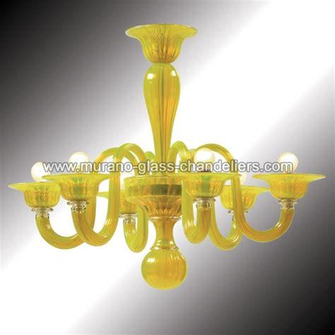 Yellow Chandelier Quot Limone Quot 6 Lights Yellow Murano Glass Chandelier Murano Glass Chandeliers