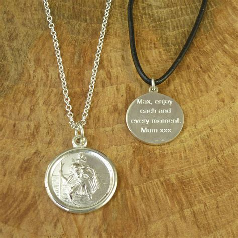 st christopher medal necklace by hersey silversmiths