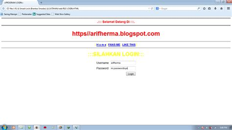 membuat web html dengan javascript cara membuat menu login dengan notepad menggunakan html
