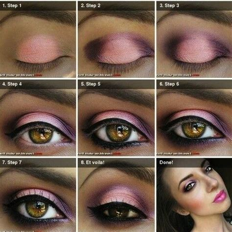 Eyeshadow For Skin pink purple makeup for brown skin