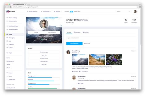 Clean Ui Admin Template Classic Material Design Landing Pages Angularjs Starter Kit By Angularjs Landing Page Template