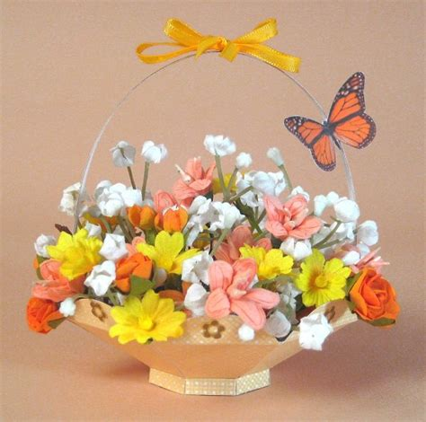 How To Make Paper Flower Basket - best photos of flower basket template make paper easter