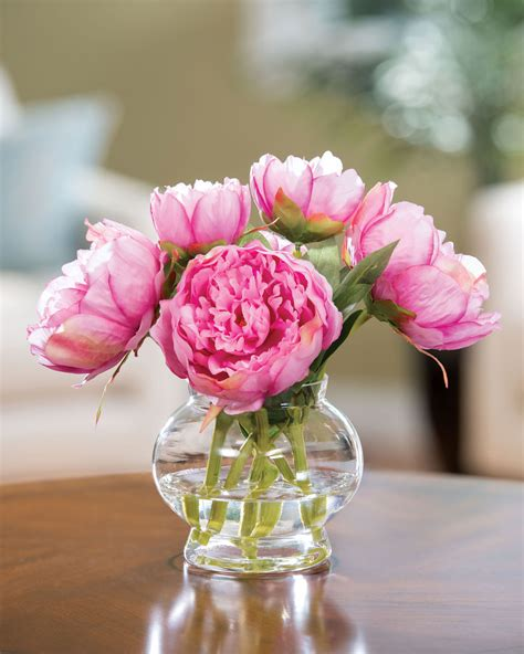 flower centerpieces capture permanent garden beauty with peony silk flower