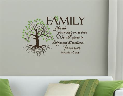 decorating a tree sayings family quote like branches on a tree wall vinyl decal